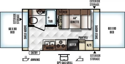 2017 Forest River Flagstaff Shamrock 17 floorplan