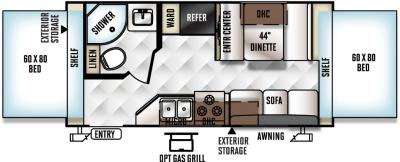 2017 Forest River Flagstaff Shamrock 19 floorplan