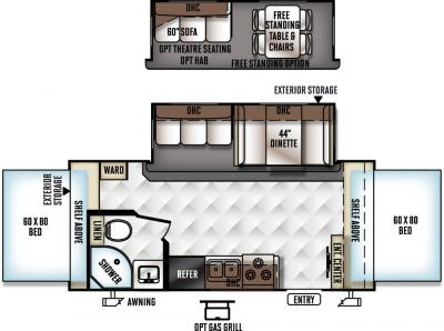 2017 Forest River Flagstaff Shamrock 21SS floorplan