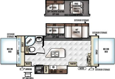 2017 Forest River Flagstaff Shamrock 23IKSS floorplan