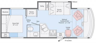 2017 Winnebago Vista 26HE floorplan