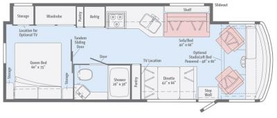2017 Winnebago Vista 29VE floorplan