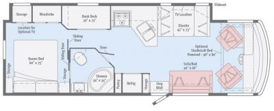 2017 Winnebago Vista 31BE floorplan