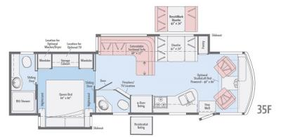 2017 Winnebago Vista LX 35F floorplan