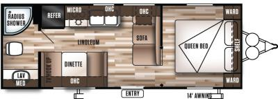 2017 Forest River Wildwood X-Lite 241QBXL floorplan