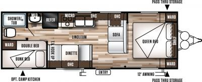 2017 Forest River Wildwood X-Lite 261BHXL floorplan
