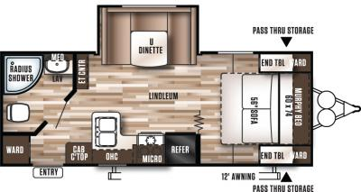 2017 Forest River Wildwood X-Lite 232RBXL floorplan
