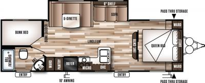 2017 Forest River Wildwood X-Lite 263BHXL floorplan