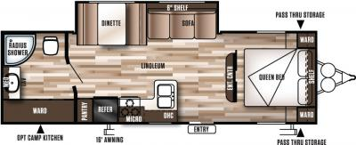 2017 Forest River Wildwood X-Lite 272RBXL floorplan