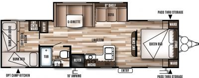 2017 Forest River Wildwood X-Lite 273QBXL floorplan