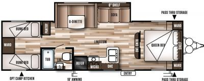 2017 Forest River Wildwood X-Lite 282QBXL floorplan