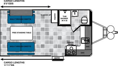 2017 Forest River Work and Play 16UL floorplan