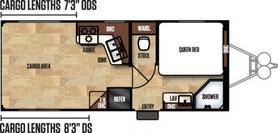 2017 Forest River Work and Play 21UL floorplan