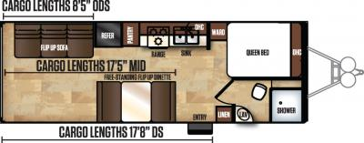 2017 Forest River Work and Play 25CB floorplan
