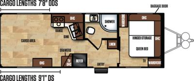 2017 Forest River Work and Play 25ULA floorplan