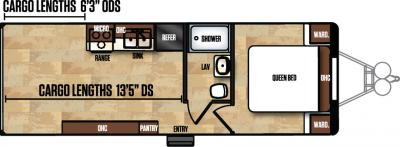 2017 Forest River Work and Play 25WB floorplan