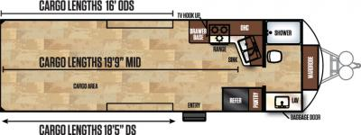 2017 Forest River Work and Play 26FBW floorplan