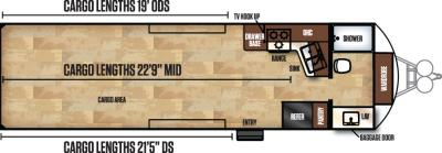 2017 Forest River Work and Play 28FBW floorplan