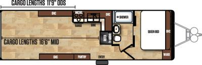 2017 Forest River Work and Play 28UCR floorplan