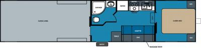 2017 Forest River Work and Play 38FK floorplan