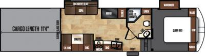 2017 Forest River Work and Play 38RLSW floorplan