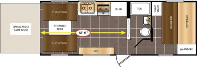 2017 Prime Time  Avenger 21TH floorplan