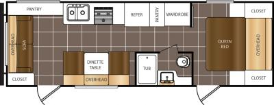 2017 Prime Time  Avenger 25RL floorplan