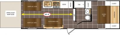 2017 Prime Time  Avenger 25TH floorplan