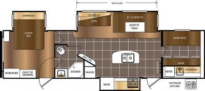 2017 Prime Time  Avenger 32FBI floorplan