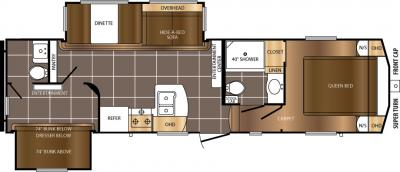 2017 Prime Time  Crusader Lite 30BH floorplan