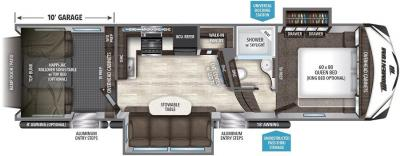 2017 Grand Design Momentum 327M floorplan
