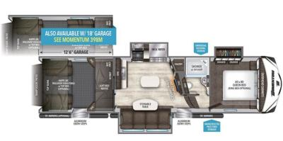 2017 Grand Design Momentum 348M floorplan