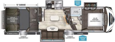 2017 Grand Design Momentum 349M floorplan