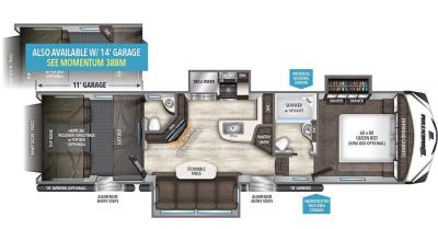 2017 Grand Design Momentum 350M floorplan