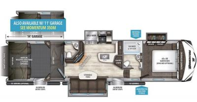 2017 Grand Design Momentum 388M floorplan