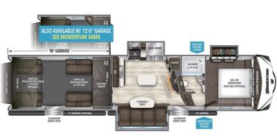 2017 Grand Design Momentum 398M floorplan
