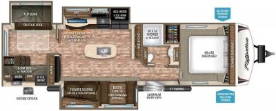2017 Grand Design Reflection 312BHTS floorplan