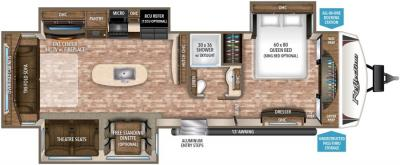 2017 Grand Design Reflection 315RLTS floorplan