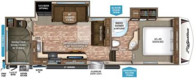 2017 Grand Design Reflection 28BH floorplan
