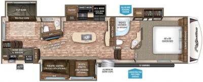 2017 Grand Design Reflection 311BHS floorplan