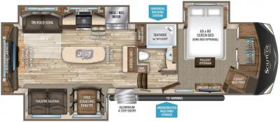 2017 Grand Design Solitude 300GK-R floorplan