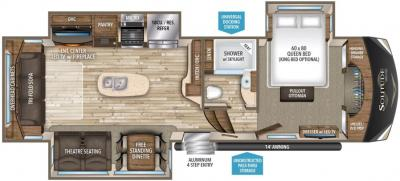 2017 Grand Design Solitude 321RL-R floorplan