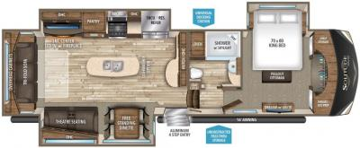 2017 Grand Design Solitude 369RL-R floorplan