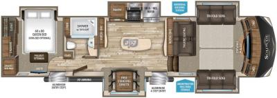 2017 Grand Design Solitude 379FL-R floorplan
