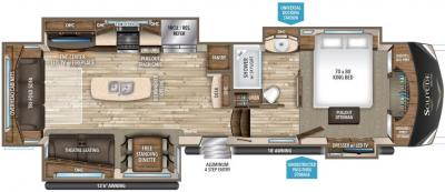 2017 Grand Design Solitude 384GK-R floorplan