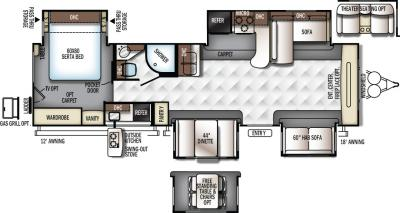2017 Forest River Flagstaff Classic Super Lite 832FLBS floorplan