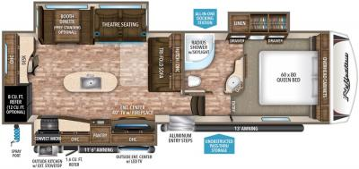 2017 Grand Design Reflection 307MKS floorplan