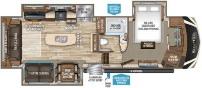 2017 Grand Design Solitude 310GK floorplan