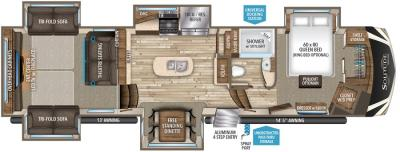 2017 Grand Design Solitude 375RES-R floorplan