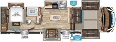 2017 Grand Design Solitude 379FLS floorplan